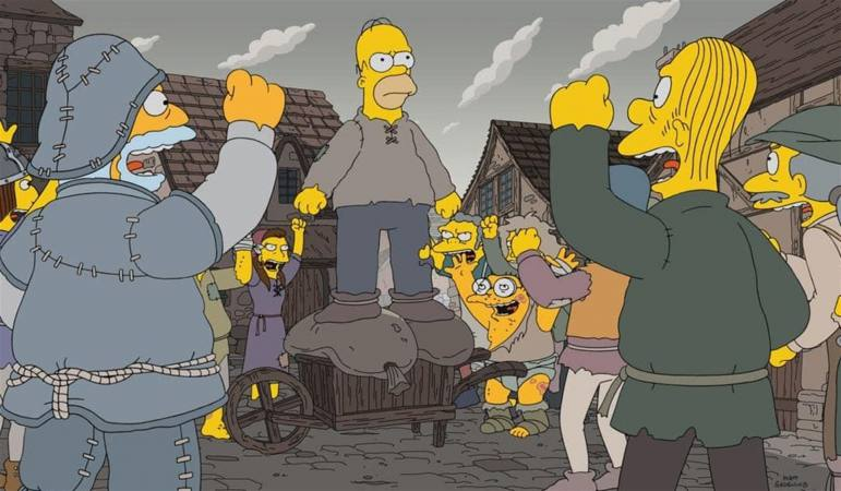 "La nueva temporada de ""Los Simpsons"" parodia a ""Game of Thrones"""